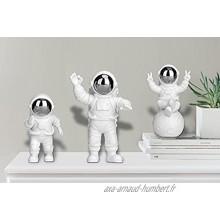 Décoration Astronaute Anniversaire Gateau Toppers Astronaute Figurine Jouet en Résine Statue Astronaute Decoration Figurine CréAtives Ornements Astronaute DéCoration de Gâteau Bureau Argent