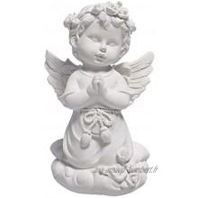 EXCEART Décoratif Ange Statues Et Figurines Résine Ange Ailes Statue Sculpture Jardin Statue Figurine Table Maîtresse Décoration Cadeaux Religieux Catholiques 13X8cm
