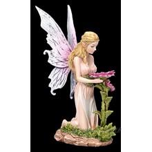 Figurine elfes Florina agenouillée devant la fleur | fée fée ange figurine décorative objet de décoration statue sculpture H 15 cm
