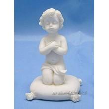 Le coin cadeaux Figurine Ange chérubin prière sur Coussin Statue Statuette Mariage baptême Noël déco 7.5cm Livraison Gratuite dès 25E