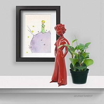 Le Petit Prince sculpture Figurine 30 cm Rouge Royal Objet deco et de design moderne Idéal cadeau anniversaire baptême mariage