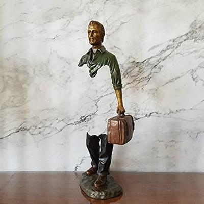 43 cm hauteur artiste création bronze voyageur sculpture décoration de table artiste décoration de voyage