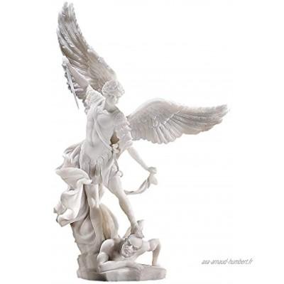 Design Toscano WU71543 Sculpture de Buster Bouledogue Blanc Large
