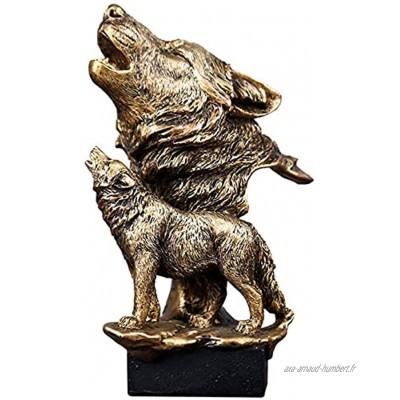 JYHZ Décorations Tête de Loup Décorations de la Statue Sculptures d'animaux Salon de séjour et décoration de Bureau Ornements de Bureau