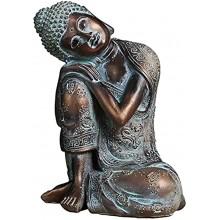 Shunfaji Statue de Bouddha endormi en résine Bouddha Decoration Interieur Cadeaux de Sculpture de décoration à la Maison Ornements de décoration de Salon Ornements de caractère créatif BS-068
