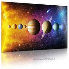 Affiche de l'Univers du système solaire XXL; Affiche de la photo de la galaxie spatiale; Impression d'art mural de l'Univers 80 x 45 cm Système solaire