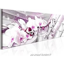murando Impression sur toile intissee 120x40 cm 1 piece tableau tableaux decoration murale photo image artistique photographie graphique b-B-0144-b-d Orchidea Fleurs Abstrait
