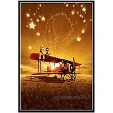 Petit Prince Film Affiche d'art Mignon Et Peinture À l'huile Photo Impression sur Toile Tableau Decoration Murale Posters Et Arts Décoratifs sans Cadre