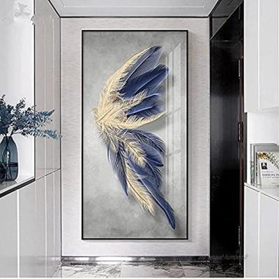 """WZRY Tableau décoratif Toile Murale Tableau Salon Cuisine Deco Personnalisé Plume décoration Peinture Maison entrée décoration Peinture 20x40cm 7.8""""x15.7"""""""