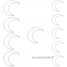 MILISTEN Attrape-Rêves Anneau Fait à La Main en Forme de Croissant Lune Étoiles Dreamcatchers pour Décoration Murale Ornement pour La Maison Décoration Festival Cadeau 10 Pcs
