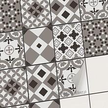 Carrelage Autocollant Stickers Carreaux Cuisine I Carreau de Ciment adhesif Mural pour Cuisine et Salle de Bain I Stickers carrelage 20x25 cm I 6 Pièces