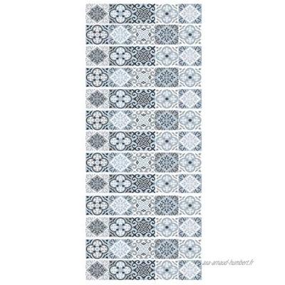 workid Stickers Adhésifs Escalier Carrelages Sticker Autocollant Contremarche Carreaux De Ciment – Stickers Contremarche Carrelages 18 * 100Cm * 13Pcs- Modèle-Lt-155
