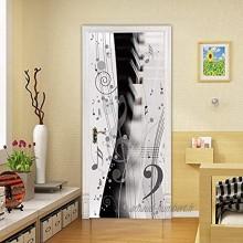 ROMDEANK Peinture murale de porte Noter Sticker de Porte 3D Effet Décoration Auto Adhésif Amovible Imperméable Autocollants De Porte Muraux Décoration pour Porte 90 X 200 CM