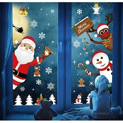 Décoration Noël Sticker Rennes Sapin Autocollants de Fenêtre Noel Decoration Fenetre Autocollants Fenêtre Noel Stickers Fenetre Noel Stickers Vitrine Noel Stickers Noel Decoration