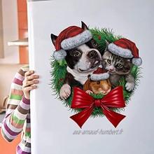 Noël Autocollants Fenetre Noël Stickers Décoration DIY Fenêtres Stickers Santa Claus Porte de Noël Autocollant Amovibles Réutilisable Statique Autocollants Décalcomanie pour Noël Décorations
