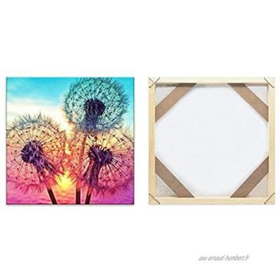 Cadre Photo Diamond Painting Cadre 25x25CM pour Bricolage Peinture sur Toile en Bois Decoration Murale Bois Naturel Art Mural Cadres Kit