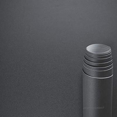 Awnic Film pour meubles Gris foncé mat Film adhésif épais pour armoires de cuisine Films pour armoires de cuisine Film autocollant pour armoires de cuisine Imperméable 500x60cm