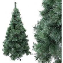 Arcoiris® Arbre de Noël artificiel aiguilles en pin vert naturel matériau PVC support en métal 120 cm – 240 cm arbre aiguilles en pin vert 120 cm