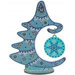 Domybest DIY 5D Diamant Painting Sapin de Noël Bricolage Mosaïque Cristal Peinture Diamant Arbre de Noël de Table Ornement de Noël Décoration de Noël 24x30cm