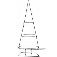 Sapin de Noël décoratif 3D 127 cm Support en métal noir Sapin de Noël à décorer soi-même
