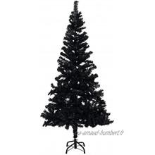 Susany Sapin de Noël Artificiel avec Support,Sapin de Noel,Tronc Vert,Sapin de Noël Artificiel,avec 564 Branches-Noir 120cm PVC