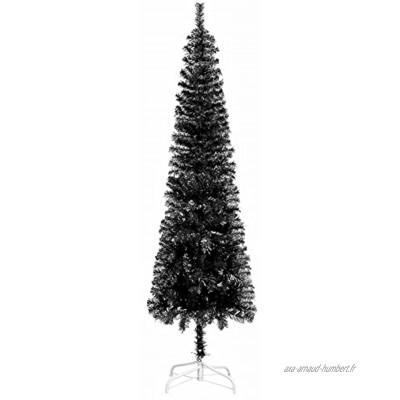 Susany Sapin de Noël étroit Arbre de Noël Artificiel Noir 150 cm