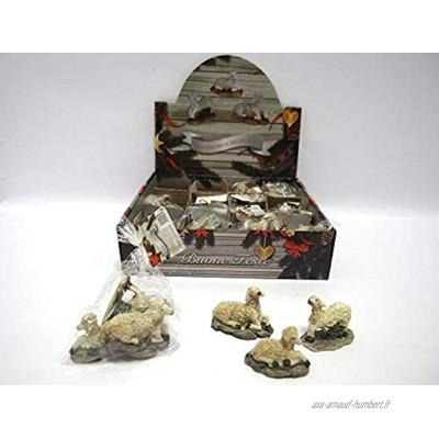 Set 3moutons H. 4x 4,5x 2,5cm figurines figurines crèche