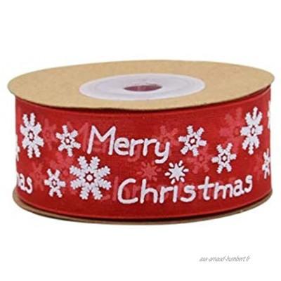 """1 Rouleau 10M 32.8ft Rouge Ruban De Noël Ruban Garniture Ruban Bande Cravate Bande pour BRICOLAGE Art Craft Cadeau De Noël Emballage Guirlande Ornement Décoration De Sapin De Noël 2.5cm 1 """"Largeur"""