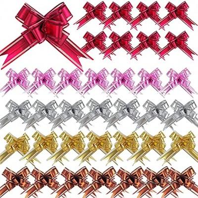 DOULEIN Noeuds d'emballage Cadeau 50 Noeuds Cadeaux pour Noël Mariage Fête Décoration de la Saint-Valentin et Emballage d'anniversaire
