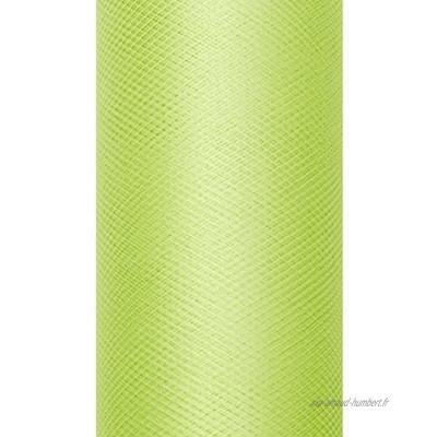 Party Décoration Mariage Rouleau de tulle pour noeud vert anis uni 20mètres x 8cm tulle en bobine de 20 mètres largeur 8cm