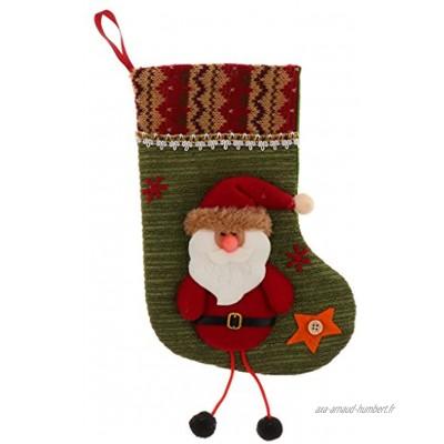 Chaussette Bas de Noël Motif de Père Noël Sac Cadeau Décoration Intérieure