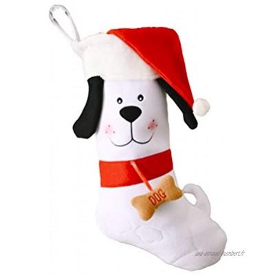 J-ouuo Chaussette de Noël personnalisée à suspendre pour sapin de Noël ou fête de famille