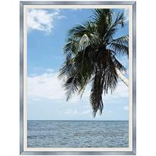 Caisse américaine 40x50 50 x 40 Cadre Caisse Americaine Blanc Argent 4 cm de Largeur Cadre en Bois Cadre pour Une Toile Seulement