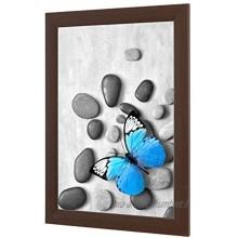 OlimpJOY Cadre photo 87 x 57 cm Wengé 35 mm Cadre en MDF avec verre acrylique antireflet