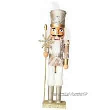 F Fityle Clever Traditionnel Soldat en Bois Soldat Noisette Festive Décor de Noël Décor Parfait Ornement pour étagères et Tables Or