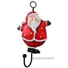 décoration de Noël American Vintage Fer Forgé Résine Père Noël Crochet Bonhomme de Neige Boule de Noël Size : A