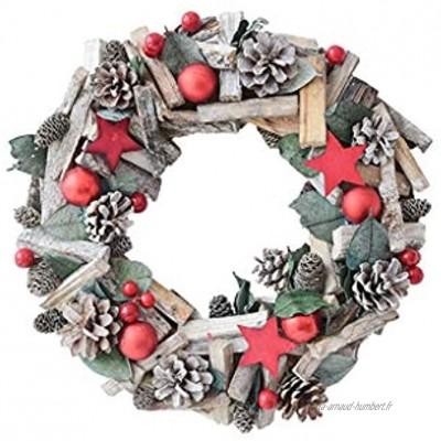 décoration de Noël Connexion Mini Ornement Pinecone Garland rotin,Fenêtre Scène Mise en Page Pendentif Color : D