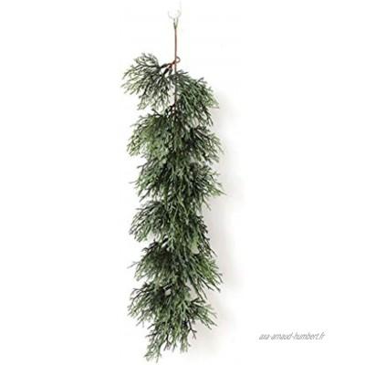 décoration de Noël Encrypted en rotin Chute de cèdre Aiguille Portes suspendues DIY Matériel Boule de Noël Size : B