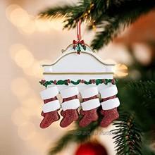Décoration de Noël Noël Sapin Accessoires Pendentifs en Résine D'Arbre de Noël 3D Statue de Chaussettes Famille Dessin Animé de Noël Ornements Suspendus pour Fête à Maison Décorations D'Arbre Noël