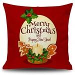 FENDOU Décorations de Noël,Coussins Oreiller,Creative Oreillers Cadeau de Noël Oreiller Décoration Color : H