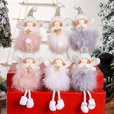 FENXIXI 6pcs Feather Angel Ornaments Ange Christmas Angel Poupée Arbre de Noël Pendentifs Décorations de Noël for enfants Color : 5Pcs Size : As the picture shows