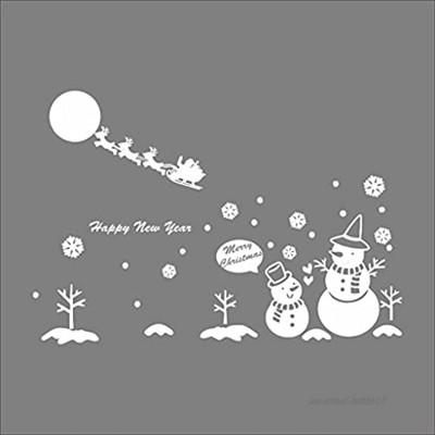 XYZMDJ DIY Autocollant Mural Joyeux Noël Vinyle Mural décalques Amovibles Stickers Mural for Salon Chambre à Coucher Accueil Décor de Noël