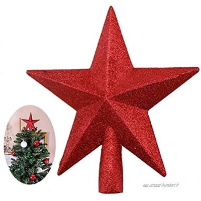 Huemny Étoile de sapin de Noël à paillettes pour décoration de sapin de Noël
