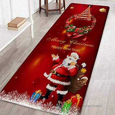 XIYAO Carpettes Tapis De Noël Tapis De Salon & Chambre Tapis De Noël