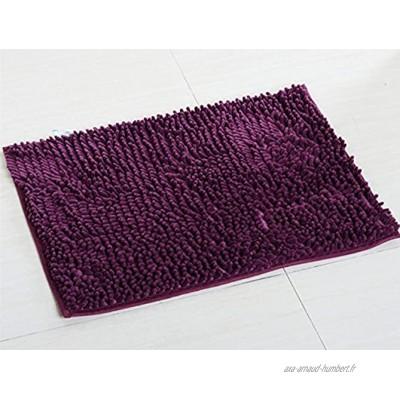 Chickwin Tapis de Salle de Bain antidérapant Tapis de Bain Confortable Tapis de Salle de Bain Tapis de Douche Doux Super Absorbant 50 * 80 cm Violet