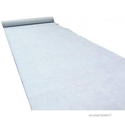 WCS Tapis de Mariage Tapis jetable Tissu Anti-Glisse Non tissé Blanc Céramique Allée de cérémonie Tapis VIP Tapis d'événement épaisseur 2 mm Color : White Size : 1.5m x 15m