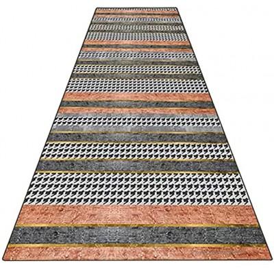 YJRBZ Tapis Runnner Tapis étroit Tapis 100cm de 1,5 m 2m 250cm 300cm 300cm 4m 5m de Long Tapis de Long Gris Orange Runner Tapis pour Cuisine Stairs Hall Corridor Size : 60×200cm