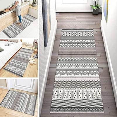 ZDYHMrj Tapis Long de Passage Couloir Cuisine Lavable Marocain Antidérapant Moderne Géométrie Tapis Cuisine Entrée en Polyester pour Couloir Salon escalier Largeur 60cm  70cm  80cm  90cm  100cm