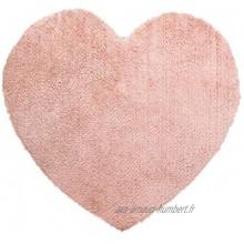 Atmosphera Tapis épais Coeur Rose pour Chambre d'enfant 80 x 74 cm