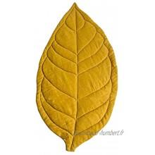 HshDUti Tapis Rampant Doux de Forme de Feuille de Bébé Carpet Nouveau-né Décoration de Chambre d'enfant Paillassons de Jeu Yellow
